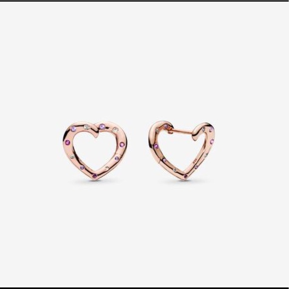 best wholesaler lovely luster vivid and great in style Pandora Rose Crystal Bright Heart Earrings NWT